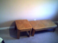 Coffee table plus 2 end tables.