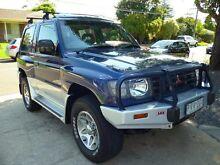 1999 Mitsubishi Pajero NL GLS SWB (4x4) Blue 5 Speed Manual 4x4 Hardtop Mordialloc Kingston Area Preview