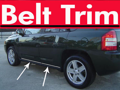 Jeep COMPASS CHROME SIDE BELT TRIM DOOR MOLDING 2007 2008 2009 2010-2016 - Jeep Door Molding