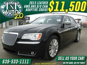 2013 CHRYSLER 300C AWD-LEATHER-NAV-B/U CAM-ADAPTIVE CRUISE!