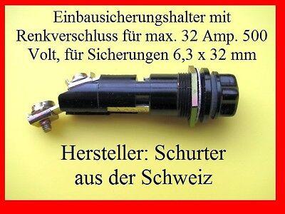 1000 Sicherungshalter 32A. 500V für 6,3x32 mm Großhandel & Sonderposten Sonstige
