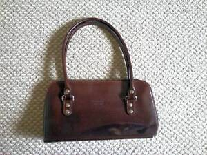BE QUICK Brown Italian leather handbag genuine leather never used Walkerville Walkerville Area Preview