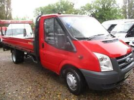 2008 Ford Transit 2.4TDCi PICK UP TAIL LIFT 4 MTR NO VAT 350 LWB GENUINE MILES