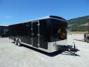 NEW 8 1/2x24 BLACK ENCLOSED CAR TRAILER 10,000lb