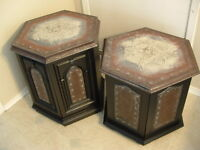 2 Funky Celtc End Tables - one of a kind!