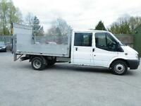 2012 Transit 350 double cab dropside/ 32000 miles/tail lift