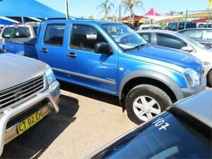 2005 Holden Rodeo RA MY05.5 LX Crew Cab 4x2 Blue 4 Speed Automatic Utility