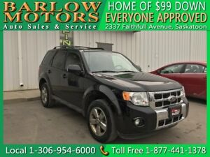2012 Ford Escape Limited   99 DOWN EVERYONE APPROVED!!!