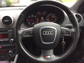 Audi A3 S line Black Edition Alloys, great spec, cheap to run, full service history, 11 months MOT