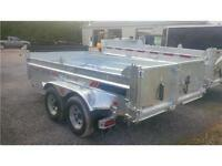 2016 K-Trail 6`x12`  5 TON   GALVANIZED DUMP TRAILER, RAMPS INC