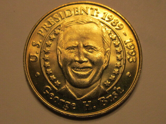 US President George H. Bush Sunoco Presidential Coin Series 2000 token