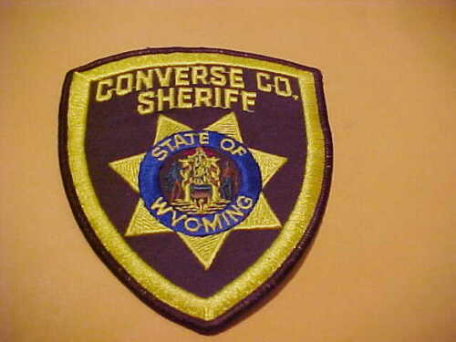 CONVERSE COUNTY WYOMING  POLICE PATCH SHOULDER SIZE USED