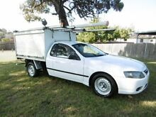 2006 Ford Falcon BF MkII XL White 4 Speed Auto Seq Sportshift Cab Chassis Yagoona Bankstown Area Preview