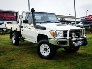 2012 Toyota Landcruiser VDJ79R MY10 Workmate White 5 Speed Manual Cab Chassis Wangara Wanneroo Area Preview