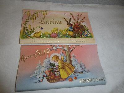 Dachbodenfund Alt. Schokolade Papier Verpackung Moser Roth Karina