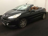 2007 07 Peugeot 207 CC 1.6 16v 120 GT,CONVERTIBLE,BLACK,AUTOMATIC,LEATHER