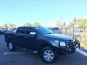2013 Ford Ranger PX XLT 3.2 (4x4) Grey 6 Speed Automatic Dual Cab Utility Beckenham Gosnells Area Preview