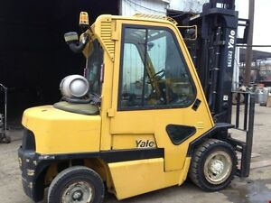 Used 8000lb Forklift w/ Enclosed Cab