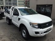 2014 Ford Ranger PX XL 2.2 HI-Rider (4x2) White 6 Speed Automatic Cab Chassis North Strathfield Canada Bay Area Preview