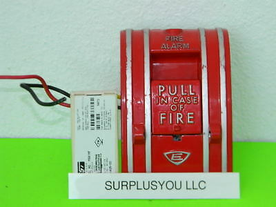 Est Edwards Signaling 270-spo Fire Alarm Pull Station W M501mf Module Included