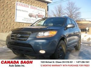 2007 HYUNDAI SANTAFE AWD, ROOF, LEATHER, 12M.WRTY+SAFETY $6490