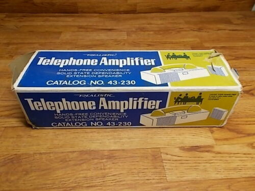 Vintage Realistic Telephone Amplifier No. 43-230,Original Hands Free, Never Used