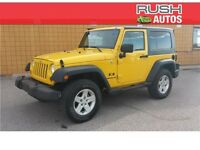 2007 Jeep Wrangler X- REMOVABLE HARDTOP, 6 SPEAKER AUDIO