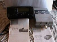 NEW and never been use - Icom IC-M710 Marine Radio,with Icom AT 130 automatic areal tunner,