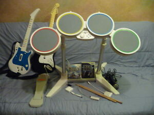 Wii Rock Band games and instruments