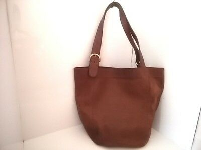 Auth COACH 4082 Brown Leather Tote Bag