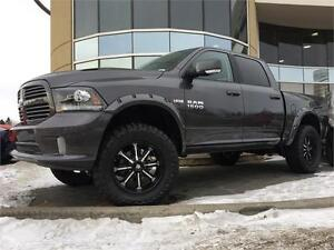 2017 RAM 1500 SPORT, LIFTED, FLARES, RIMS/TIRES, GRANITE CRYSTAL