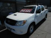2007 Toyota Hilux KUN16R 07 Upgrade SR White 5 Speed Manual Dual Cab Pick-up West Hindmarsh Charles Sturt Area Preview