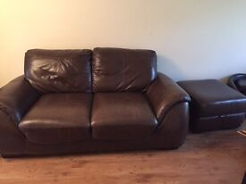 sofa 3 seater and 2 seater with footstool, original price around 2 k