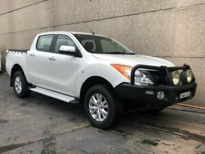 2014 Mazda BT-50 MY13 XTR (4x4) White 6 Speed Manual Dual Cab Utility Revesby Bankstown Area Preview