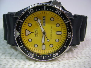 Classic Seiko SKX007-7S26 with rare yellow dial & Dragon Shroud