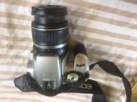 Canon EOS 400D Digital SLR Camera with two zoom lenses and extras