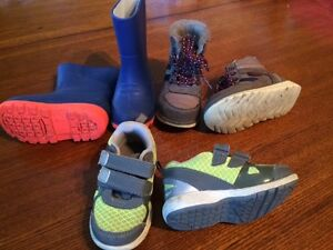 Boots and sneakers
