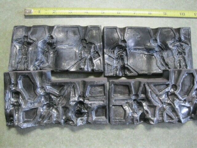 Antique Casting Mold Lead, number 5672 and 6090 Soldiers