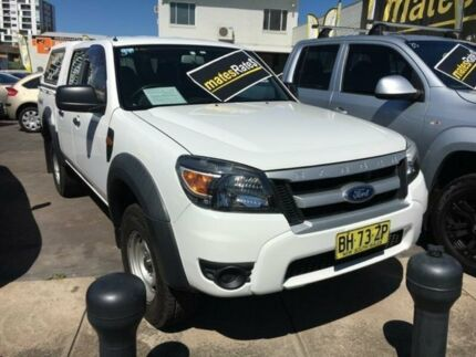 2010 Ford Ranger PK XL Crew Cab White 5 Speed Automatic Utility