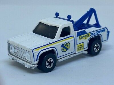 Vintage Hot Wheels Ramblin' Wrecker LARRY'S TOWING Flying Colors- 1974 Hong Kong