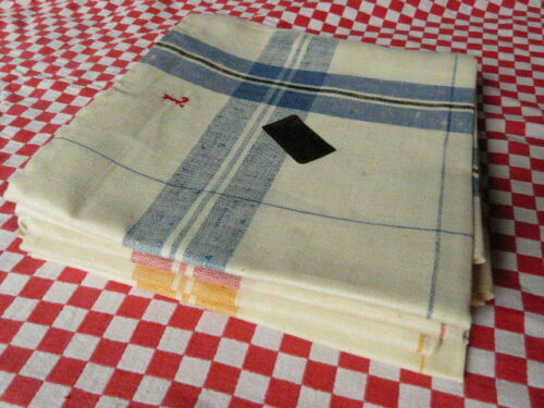 set of 6  vintage French large striped tea towels - 2 sets availables