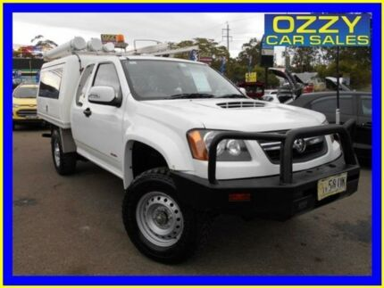 2009 Holden Colorado RC MY10 LX (4x4) White 5 Speed Manual Spacecab