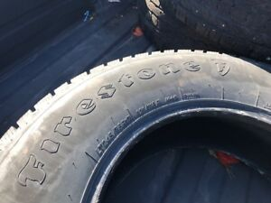 (4) Firestone Winterforce LT 245 75 R 17