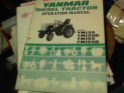 Yanmar Diesel Tractor Operation Manual Model Ym135 Ym135d Ym155 Ym155d