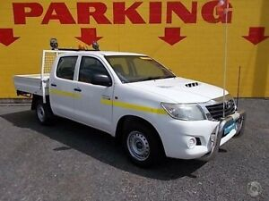 2012 Toyota Hilux KUN16R MY12 SR Double Cab White 5 Speed Manual Utility Winnellie Darwin City Preview