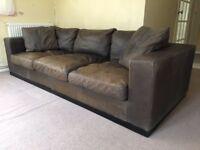 Distressed/Vintage Leather Sofa