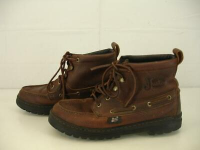 Womens sz 5 M Justin Boots Chip Casual Rustic Brown Leather Cowhide Chukka L0991 Justin Ladies Rustic Cowhide