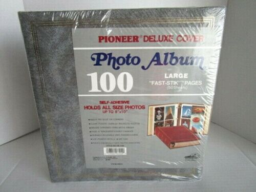 "New Vtg Pioneer Deluxe Cover 100 Page Photo Album Self Adhesive Up To 8"" X 10"""