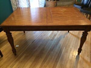 real hardwood table
