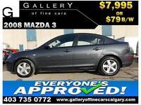 2008 Mazda3 i Sport $79 Bi-Weekly APPLY NOW DRIVE NOW